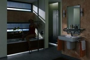 Badewannenbereich in einem modernen Bad - Klempnerei-Genossenschaft eG